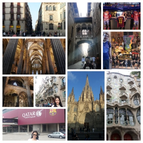 Old Cathedral, Nou Camp stadium, Gaudi Designed House and Old Town