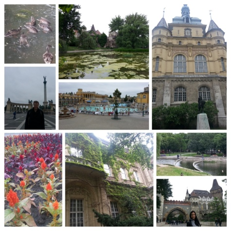 Heroes' square, Memorial, Szechenyi Thermal Bath Spa and Vajdahunyad Castle.