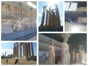 Museum of the Acropolis (Pediments and Catylids) and the Temple of Olympian Zeus