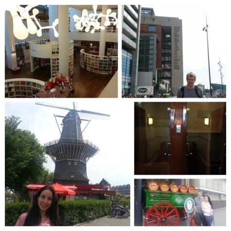 Paternoster Lift, Heineken brewery, The Grooyer Windmill and the OBA (Openbare Bibliotheek Amsterdam)